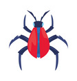 digital bug virus vector image vector image