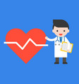 doctor and big heart icon healthcare concept vector image