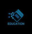 education book logo template vector image vector image