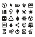 Electric Icons Set on White Background vector image vector image