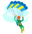 extreme sport skydiving sportman flying vector image vector image