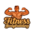 fitness logo gym sport or bodybuilding vector image vector image