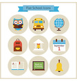 Flat Back to School and Science Icons Set vector image vector image