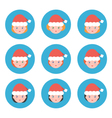 Flat design christmas female avatars icons vector image vector image