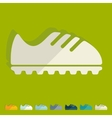 Flat design sneakers vector image