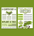 green nature posters for earth day vector image