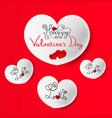 happy valentine s day vector image vector image