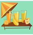 Healthy Drinks Cartoon Set vector image vector image