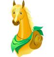 Horse cowboy vector image