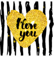 i love you handwritten design vector image vector image