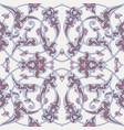 iznik tile pattern with floral ornaments vector image
