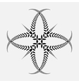 Laurel wreath tattoo Black ornament Cross sign vector image vector image