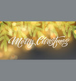 merry christmas banner template vector image vector image