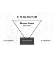 modern business card template with a triangle vector image