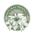 Natural product digital design vector image