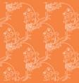 orange floral seamless pattern vector image vector image