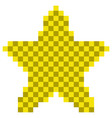 pixelated star shape icon vector image