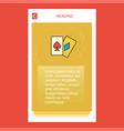 poker mobile vertical banner design design vector image