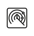 radar icon on white background vector image