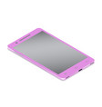 realistic glamor pink smartphone cellular in vector image