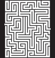 rectangle maze isolated vector image