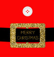 santa claus coat with button and gold glitter vector image vector image