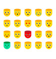 set emoticons stickers emoji vector image