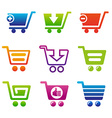 ShoppingCartSet vector image