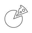 simple cheese food outline icon vector image vector image