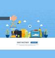 smart investment finance banking management vector image vector image
