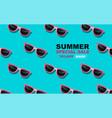 summer time layout design glasses pattern pop vector image