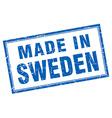 Sweden blue square grunge made in stamp vector image vector image