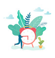 time management business process optimization vector image vector image