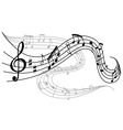 Waves of musical notes vector image vector image