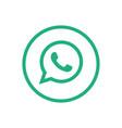 whatsapp icon design vector image