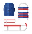Winter Sleds Set vector image