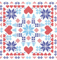 Xmas pattern in square shape vector image vector image