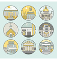 City architecture icons vector image