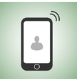 flat phone icon with interlocutor picture on vector image