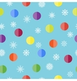 Pattern with snowflakes and balls vector image