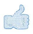 Social tags cloud vector image