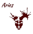 zodiac sign Aries vector image
