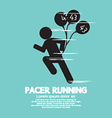 Pacer Running With Balloons Symbol vector image