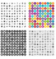 100 music icons set variant vector image vector image