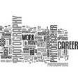 a career in photography text word cloud concept vector image vector image