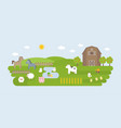 agriculture and farming landscape elements vector image