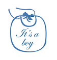 babib blue with text it is a boy vector image vector image
