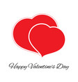 big and small red heart vector image vector image