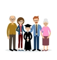 Big family with the child graduate vector image vector image