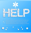 blue medical template vector image